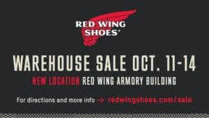 Red Wing Shoes Warehouse Sale – Red